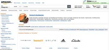 Webseite von Amazon