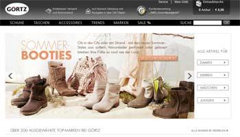 Webseite von Görtz
