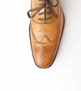 Dieser Brogues ist auch ein Oxford-Schuh