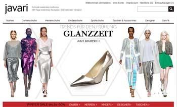Webseite von Javari