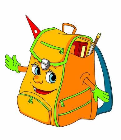 Lederrucksack für die Schule
