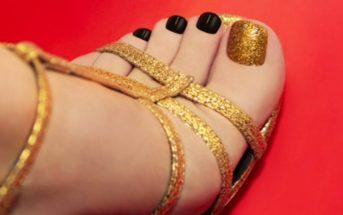 Schöne Füße in Sommerschuhen
