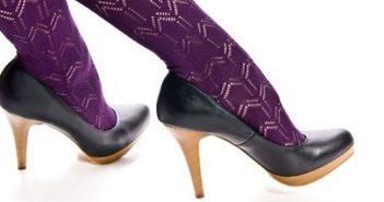 Übergangs- und Winterzeit: dicke Socken, Strümpfe und Strumpfhosen in offenen Damenschuhen?