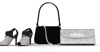 Klassische Farben sind angesagt: Schuhe und Taschen in Schwarz, Weiß und Silber