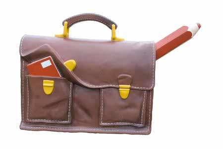 Schultasche mit Unterrichtsmaterial
