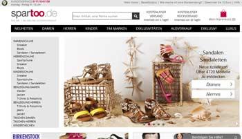 Webseite von Spartoo